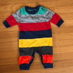 Baby gap striped sweater one piece 0-3m